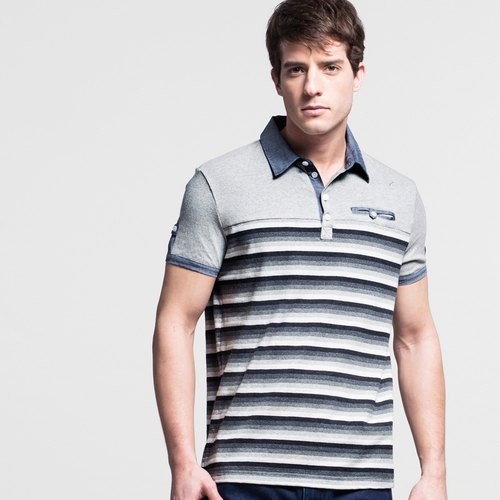Article prime splice fitting version POLO shirt - gray NOVI