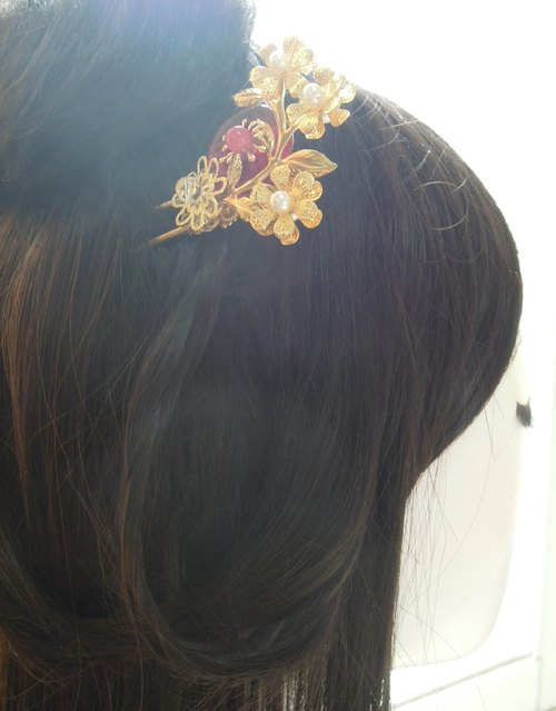 """Having seen the rope original handmade hair accessories Workshop"" Chinese wind step shake hair accessories - Elixir (hairpin)"