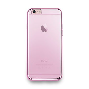 iPhone 6s -Sheen Series- metal light through a sense of protective soft cover - rose pink