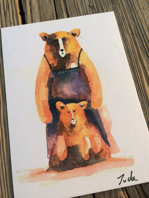 Animal Postcards mama bear