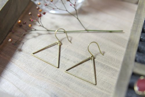 Retro handmade earrings brass ☞ [Delta] Law