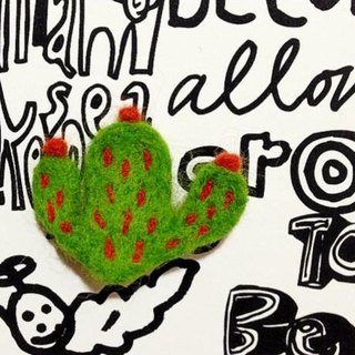 Mew in Wonderland ─ fleshy cactus plant cactus family - the bulk of the wool felt brooch