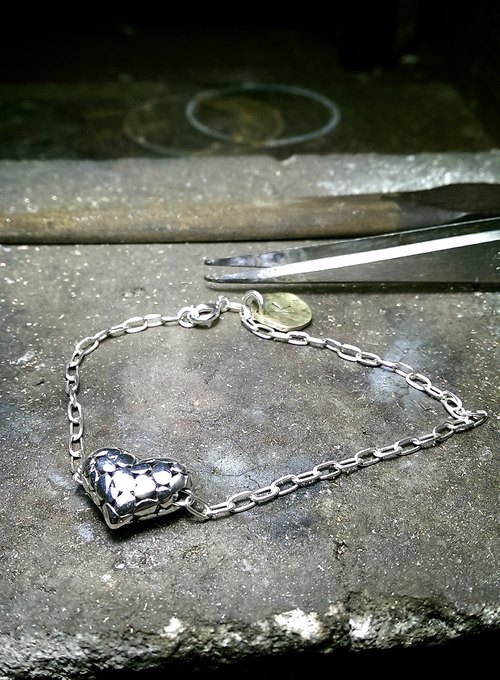"""O're"" Love Collection handmade silver bracelet"