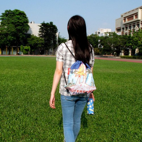 BLR  Drawstring Backpack  Pouch Magai's [ Outer space ]
