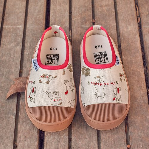 [Date] chocolate cat child cloth / children canvas shoes / Walking slippers paternity Series / only 15