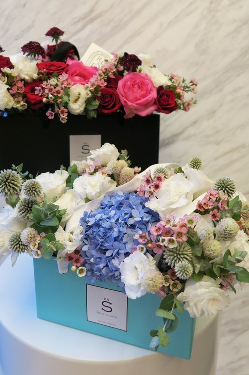 [Valentines Day Summer Garden Portable fragrance candle flower ceremony x] (small) 35*20*20cm sweet Tiffany Blue - 9% off Preorder Time: 8 / 1-8 / 11