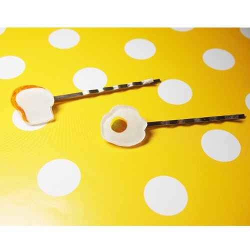 Delicious breakfast series Handmade Hairpin (2 in)