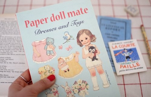 Korea [Afrocat] papaerdoll line notebook <Alice> Vintage doll diary notes memo PDA