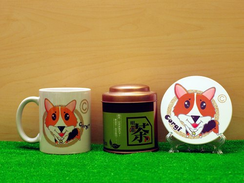 """Father Tea X NONCOOL"" Dog series - Corgi * tricolor. Tea gift"