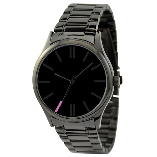 Simple Black Watch (Purple 7:00) with steel
