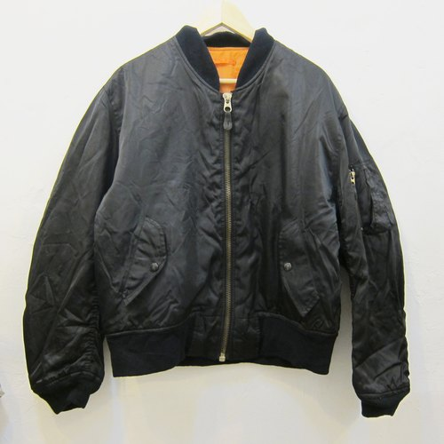 ✵ ✵ Boyhood classic style black ma-1 flight jacket vintage jacket for men and women both wear neutral funds Slightly Specials