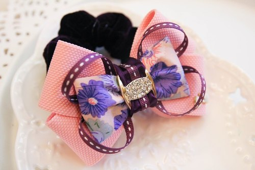 Purple bow wind colorectal ring