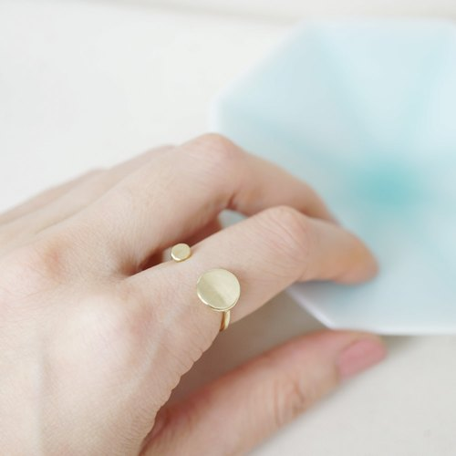 Button Pure Brass Ring