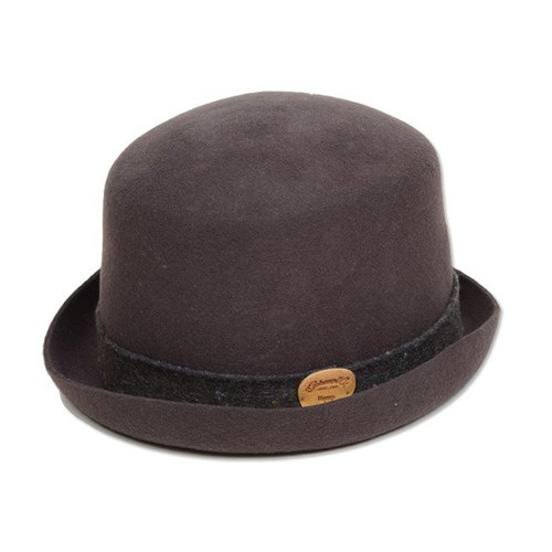 Pick Gohemp woolen hat decorated high gentleman (left Brown)