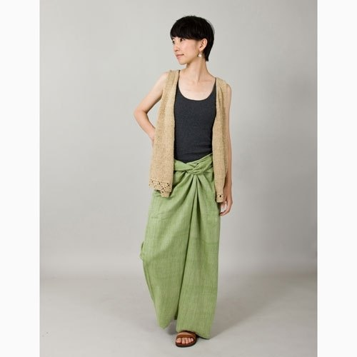"Earth tree fair trade & amp; eco- ""series of hand-woven cotton - hand-woven cotton belt pants (green) is just a"