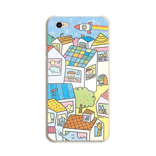 Illustration of mobile phone shell _Sweet Home