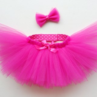 Oops! [Pet handmade tutu skirt Peng group (including hair accessories) / sweetheart pink]