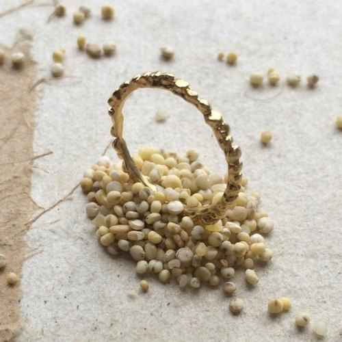 * Grain Series * millet (millet) pinky ring * gold
