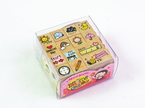 minicute stamp set - weather mood VS.