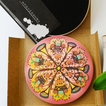 """DNS original design"" Xmas Speaker UV painted ceramics absorbent coaster"