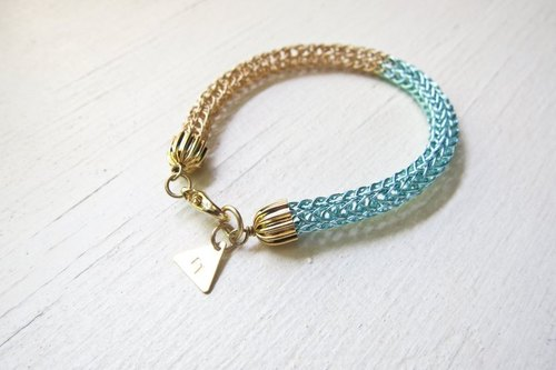 [100% customized gifts] metal braided lucky bracelet color color selection * * 100% free custom personalized