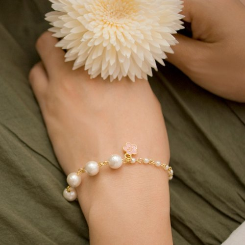 [Exp] series - cherry cotton pearl bracelet (6)