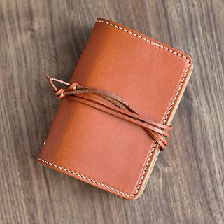 [DOZI leather hand-made] portable six-hole handwritten notepad with leather binding rope can be freely color matching