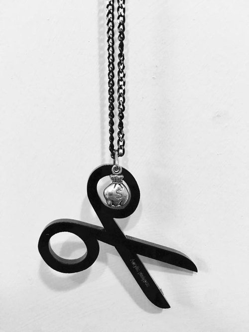Lectra cut villain duck ▲ ▲ necklace / keychain