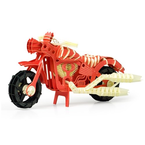 Papero paper scenery DIY mini model - Motorcycles (red) / Motocycle (Red)