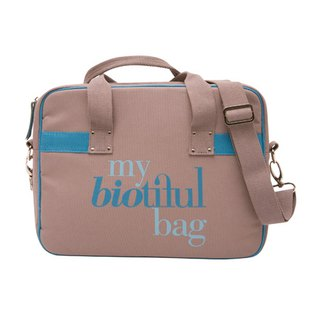 France my biotiful bag Organic Cotton Urban Series Computer Bag-BEIGE