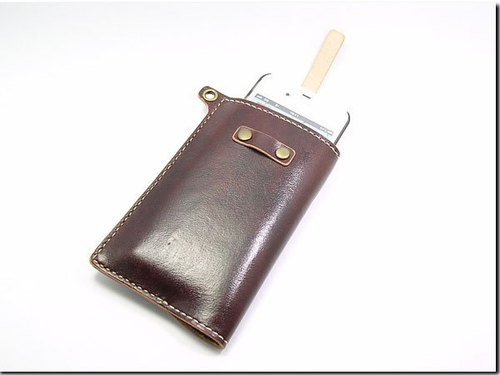 Hand-stitched leather ----- can plug hanging Shore iphone4 / 4s Case
