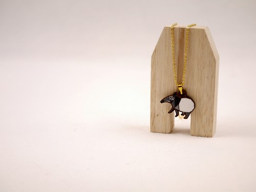 CutFing- wooden series -WOOD Malayan tapir short chain
