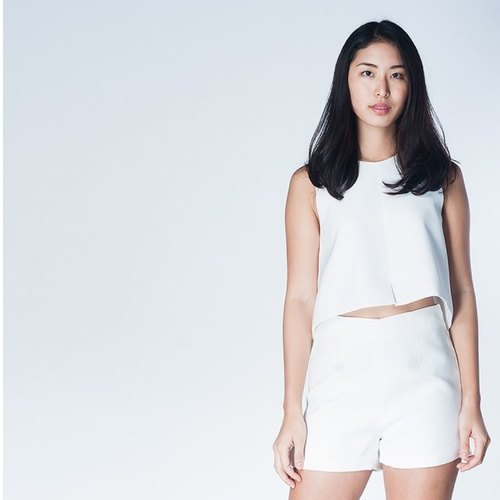 SPLIT UP CROP TOP-WHISPER WHITE