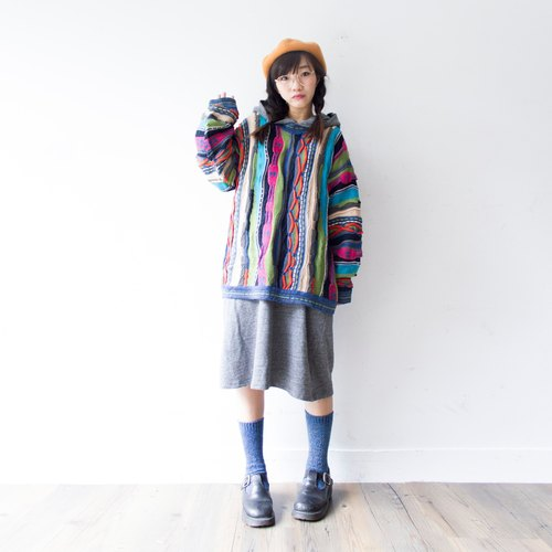 Banana cat. Banana Cats Australian classic three-dimensional weave colorful woolen cardigan coogi