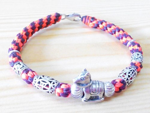 One hundred break for silk silver Creative bracelet wax cord - Flat Anma