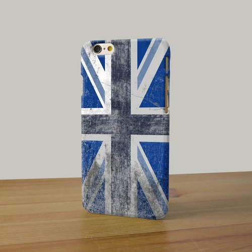 England Flag British UK Union Jack blue 3D Full Wrap Phone Case, available for  iPhone 7, iPhone 7 Plus, iPhone 6s, iPhone 6s Plus, iPhone 5/5s, iPhone 5c, iPhone 4/4s, Samsung Galaxy S7, S7 Edge, S6 Edge Plus, S6, S6 Edge, S5 S4 S3  Samsung Galaxy Note 5,