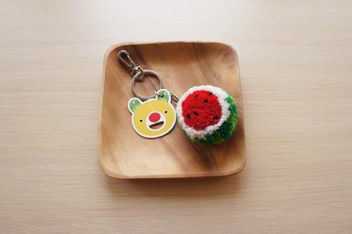 Handmade key rings fruits - watermelon