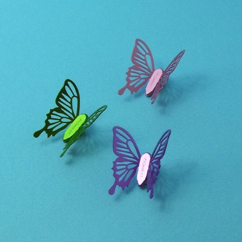 Desk + 1 │ cold crushed butterfly magnet group (3 installed) -B
