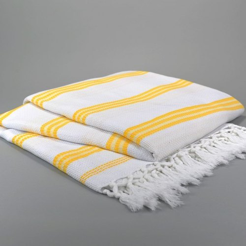 Turkish handmade organic cotton bedspreads (yellow)