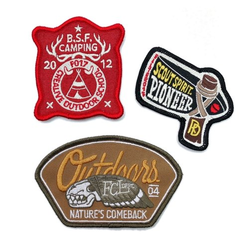 Filter017 embroidery patch group - OUTDOOR PATCH SET - C / D