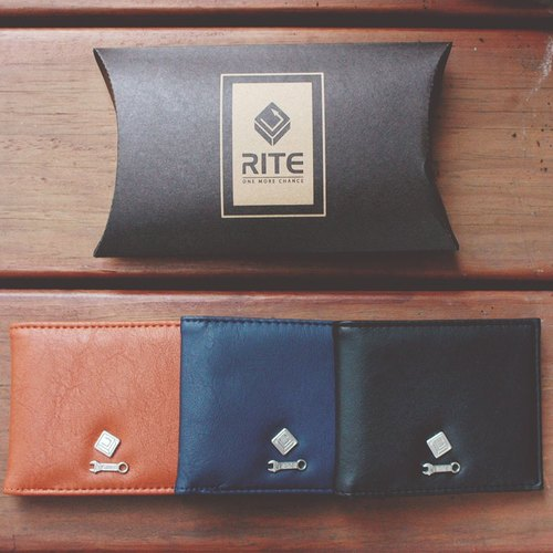 RITE short clip branded version] [LOGO plated fashion debut (Zhang blue leather)