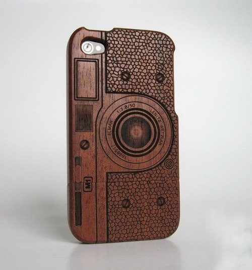 Promotional wood iphone 4, iPhone 4s mobile phone shell, mahogany cameras, creative gifts