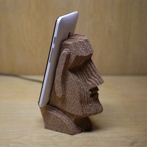 Moai Moai stone statues phone planes, creative cork stack, hand made, crafts, treatment was smaller