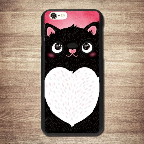 [Black chubby meow star people] iPhone Black Phone Case - Big Tail rogue Valentine's Day