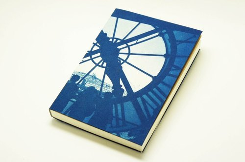 Handmade cyanotype notebook - Orsay Eye