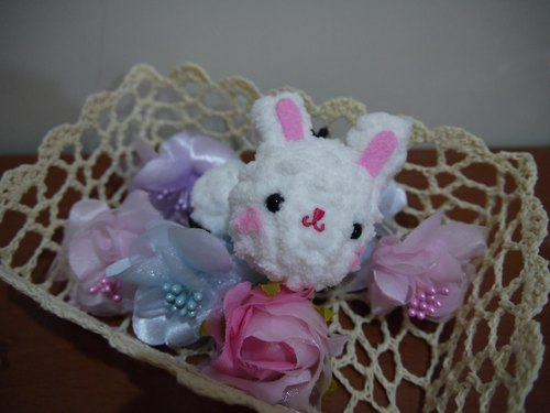Marshmallow animal hair bundle - White Rabbit models