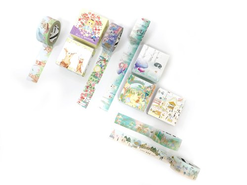 Indian fairy tale fool paper tape | gift boxes (five entry / group) design by print fool | I999MT002