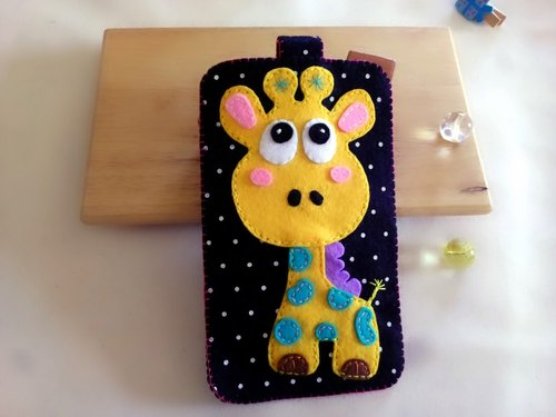 Phone sets ~ ~ giraffe section of non-woven