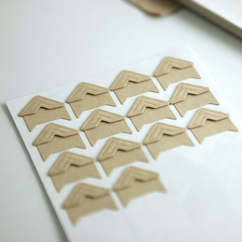 Dailylike kraft paper photo corner stickers fixed group -01 colors, E2D85468