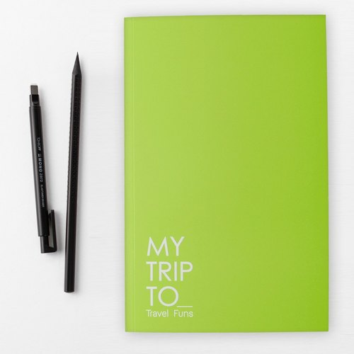 [Travel Funs] Step-by step Planning Travel Notebook (Green-yellow)